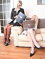 The Sales Meeting- Secretary Frankie Takes A Shine To Lucy's Pantyhose