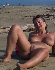 Sexy moms posing completely naked in public!