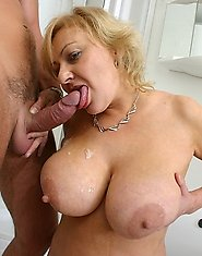 Big titted mama fucking her tits off