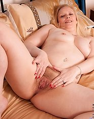 Glamorous Anilos Tamara shows off her tender breast and pleasures her milf pussy with a pink vibrator