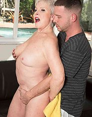 66-year-old Jewel and her son's 34-year-old friend Set 02. 60PlusMILFs  Granny Hardcore