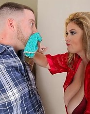 When Kimmie Kaboom catches her boyfriend's friend sniffing her panties, she makes him pay! And what a price that is. Kimmie is a hot thick blonde