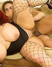 Today we're joined by the voluptuous Jem Stone. This red headed BBW had an insatiable appetite for dick.
