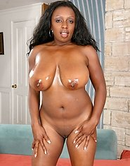 Chocolate ebony Ms Panther with her nice tits is craving for some rough cock in her